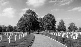 Cementerio del americano de la Segunda Guerra Mundial Foto de archivo