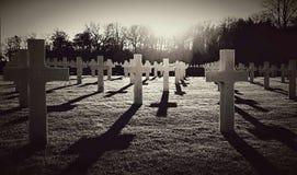 Cementerio del americano de la Segunda Guerra Mundial Fotos de archivo