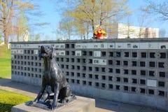 Cementerio del animal doméstico foto de archivo