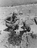 Cementerio del animal doméstico Fotos de archivo libres de regalías