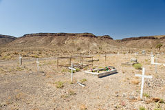 Cementerio del desierto de Nevada Fotos de archivo