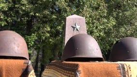 Cementerio del ejército rojo y sepulcro de la guerra metrajes