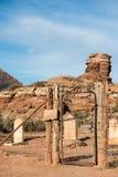 Cementerio del ghosttown de Grafton, Utah Foto de archivo libre de regalías