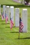 Cementerio del Memorial Day Foto de archivo libre de regalías