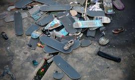 Cementerio del monopatín Fotografía de archivo