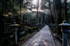 Cementerio del Monte Koya, Japón Imagen de archivo