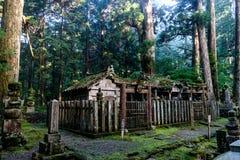 Cementerio del Monte Koya, Japón Imágenes de archivo libres de regalías