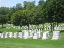Cementerio del monumento de los veteranos de Vietnam Imágenes de archivo libres de regalías