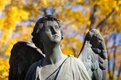 Cementerio del otoño Fotografía de archivo