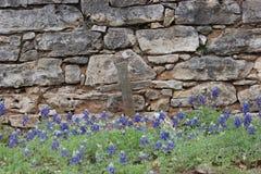 Cementerio del país de la colina Foto de archivo libre de regalías