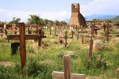 Cementerio del pueblo Fotos de archivo libres de regalías