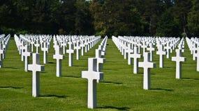 Cementerio del soldado en Normandía Fotografía de archivo