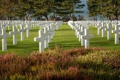 Cementerio del sur Mer de Colleville Imagenes de archivo