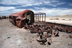 Cementerio del tren Foto de archivo libre de regalías