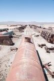 Cementerio del tren de Uyuni Foto de archivo libre de regalías