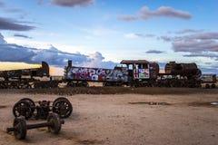 Cementerio del tren en Bolivia Imagen de archivo