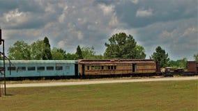 Cementerio del tren en Carolina Transportation Museum del norte Fotografía de archivo
