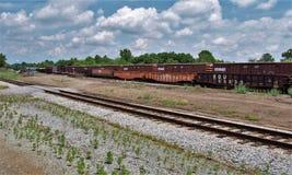 Cementerio del tren en Carolina Transportation Museum del norte Imágenes de archivo libres de regalías