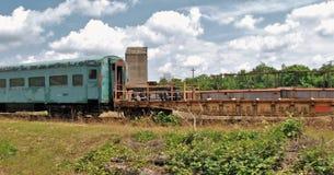 Cementerio del tren en Carolina Transportation Museum del norte Fotos de archivo libres de regalías