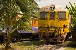 Cementerio del tren, Uttaradit, Tailandia Imagen de archivo