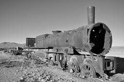 Cementerio del tren, Uyuni, Bolivia Foto de archivo libre de regalías