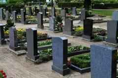 Cementerio en Alemania imagen de archivo