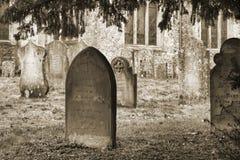 Cementerio en Burwell fotos de archivo