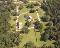 Cementerio en DeLand, opinión aérea de la Florida. Fotografía de archivo