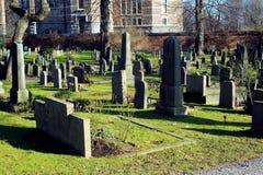 Cementerio en Djurgarden, Estocolmo, Suecia Imagen de archivo libre de regalías