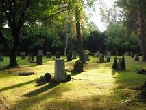 Cementerio en el otoño Foto de archivo libre de regalías