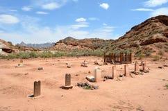 Cementerio en Grafton, Utah fotos de archivo