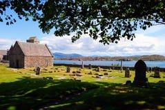 Cementerio en Hebrides Fotografía de archivo libre de regalías