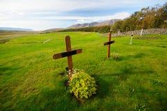Cementerio en Holar fotografía de archivo libre de regalías