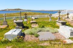 cementerio en Ile-aux.-Marins Imágenes de archivo libres de regalías