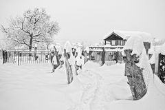 Cementerio en invierno imagen de archivo libre de regalías