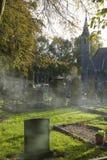 Cementerio en la caída Fotografía de archivo libre de regalías