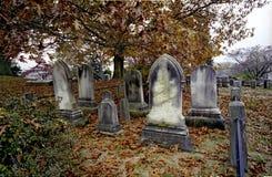 Cementerio en la depresión soñolienta Fotografía de archivo