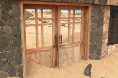 Cementerio en la playa de Cofete, islas Canarias de Fuerteventura Imagen de archivo