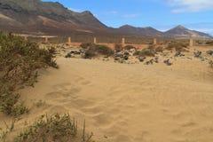 Cementerio en la playa de Cofete, islas Canarias de Fuerteventura Imagenes de archivo