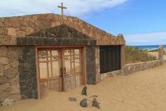 Cementerio en la playa de Cofete, islas Canarias de Fuerteventura Foto de archivo libre de regalías
