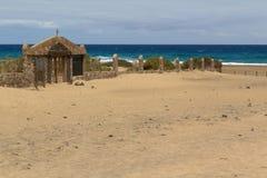 Cementerio en la playa de Cofete, islas Canarias de Fuerteventura Fotografía de archivo libre de regalías