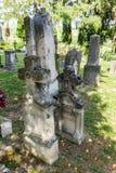 Cementerio en Lendavske Gorice en Eslovenia imagenes de archivo
