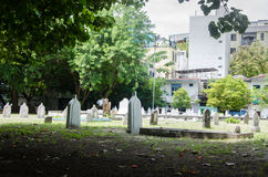 Cementerio en Maldivas Imágenes de archivo libres de regalías