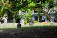 Cementerio en Maldivas Fotos de archivo libres de regalías