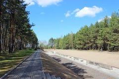 Cementerio en Mniszek, II guerra mundial. Fotos de archivo