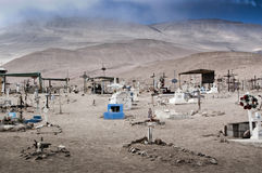 Cementerio en Poconchile (Chile) Foto de archivo