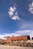 Cementerio en Uyuni, Bolivia del tren. Imagenes de archivo