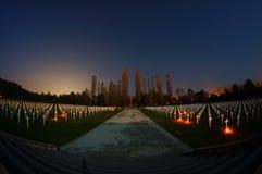 Cementerio en Vukovar Imagen de archivo
