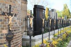 Cementerio en Vysehrad Fotos de archivo libres de regalías