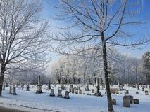 Cementerio escarchado Imagen de archivo libre de regalías
